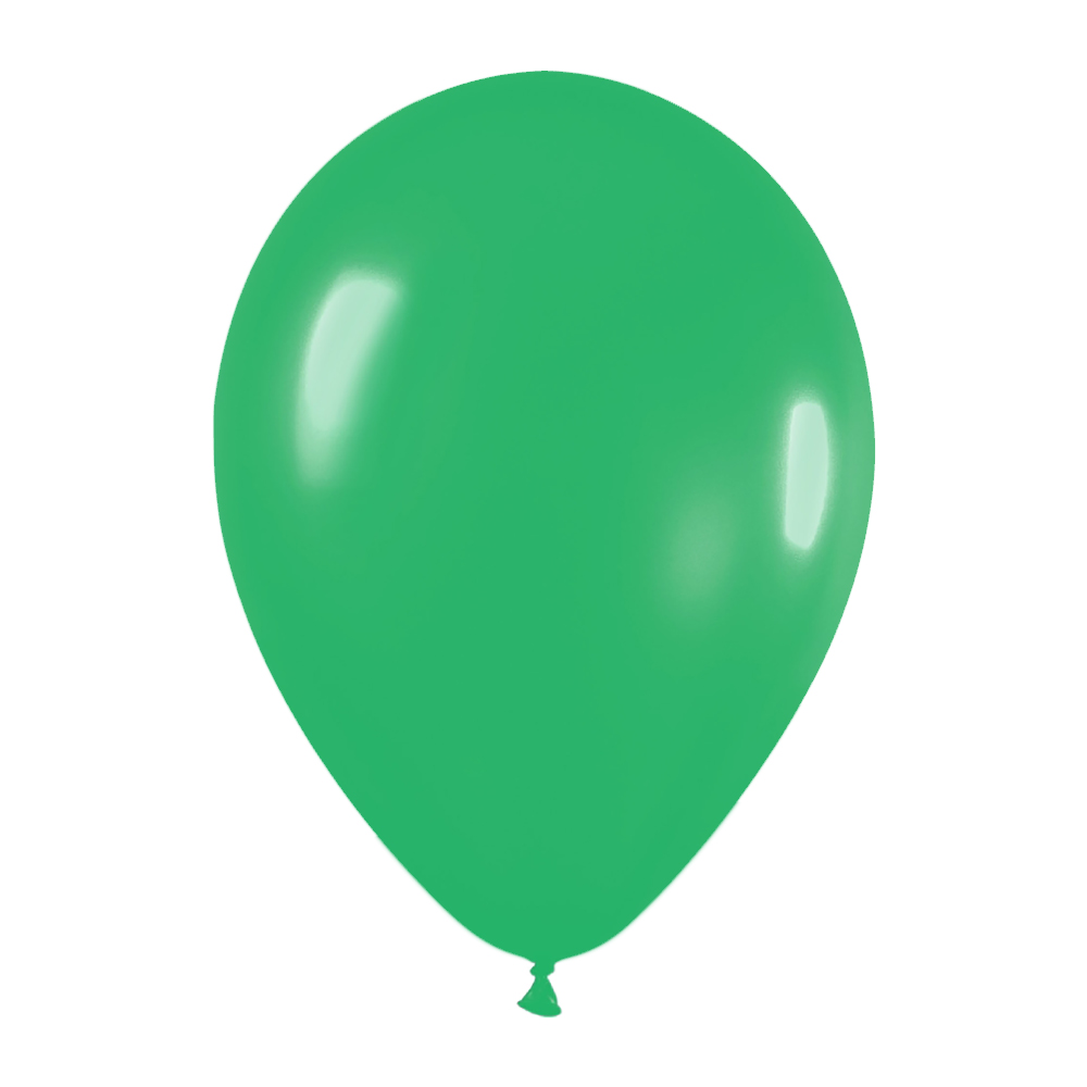 Pack de 100 globos color Verde  Jade Mate 12cm