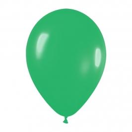 Pack de 100 globos color Verde  Jade Mate 12cm