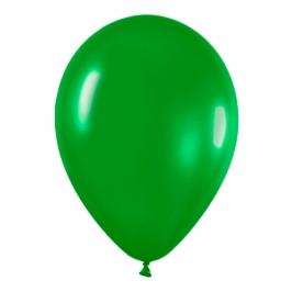 Pack de 100 globos color Verde Selva Mate 12cm