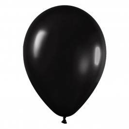 Pack de 100 Globos Negro Metalizado 12cm