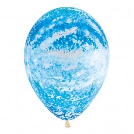 Pack de 12 Globos Graffiti Azul Cielo 30 cm