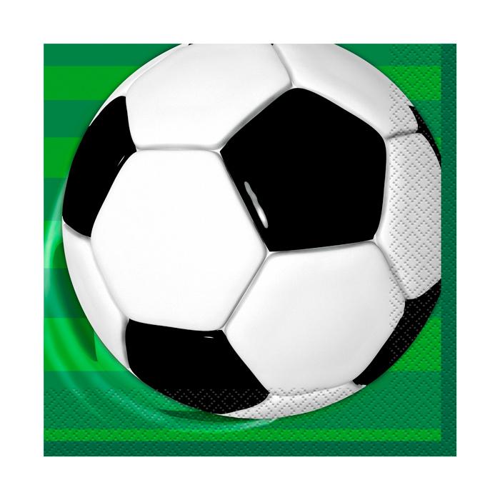 Pack de 16 servilletas Balón de Fútbol