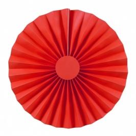 Pack de 2 abanicos color rojo 25cm
