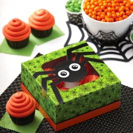 Pack de 2 Cajas para 4 Cupcakes Araña