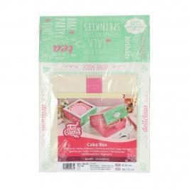 Pack de 2 Cajas para Tarta Bakery 21 x 21 cm x 9 cm