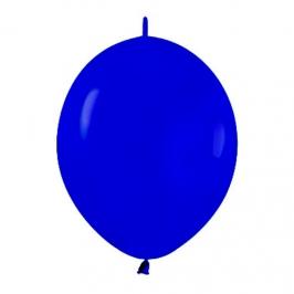 Pack de 25 Globos Link O Loon Azul Real 30 cm