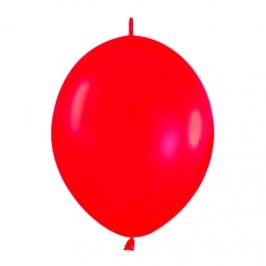 Pack de 25 Globos Link O Loon Rojos 30 cm