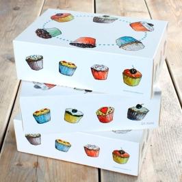 Pack de 3 Cajas para Cupcakes Modelo Cupcakes