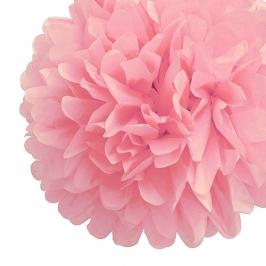 Pack de 4 Pompones de Seda 25cm color Rosa