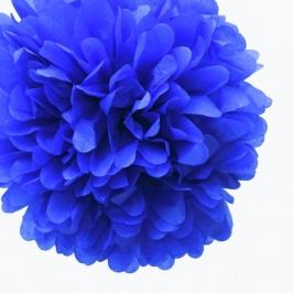 Pack de 4 pompones de seda azul marino 25 cm