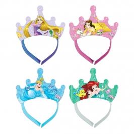 Pack de 4 Tiaras Princesas Disney