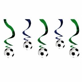 Pack de 5 decoraciones colgantes Balón de Fútbol 60cm - My Karamelli