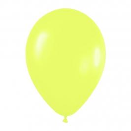Pack de 50 globos amarillo neon
