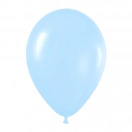 Pack de 50 globos azul satinado