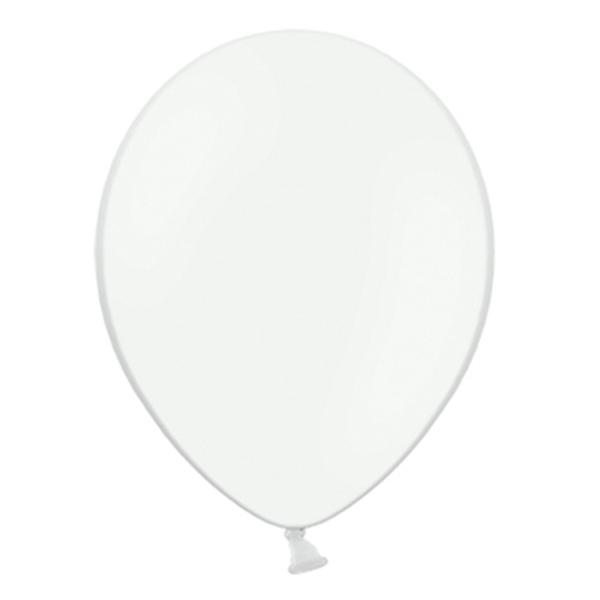 Pack de 50 globos color blanco mate