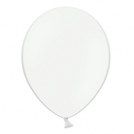 Pack de 50 globos color blanco mate