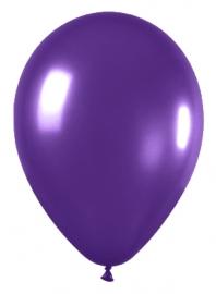 Pack de 50 globos de látex violeta metalizado