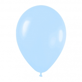Pack de 50 globos de látex azul pastel