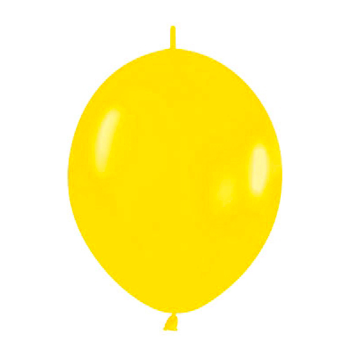 Pack de 50 Globos Link O Loon Amarillos 12 cm