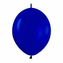 Pack de 50 Globos Link O Loon Azul Real 12 cm