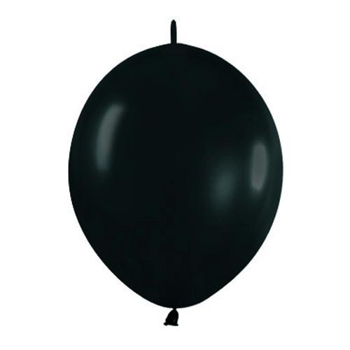 Pack de 50 Globos Link O Loon Negros 12 cm
