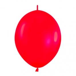 Pack de 50 Globos Link O Loon Rojos 12 cm