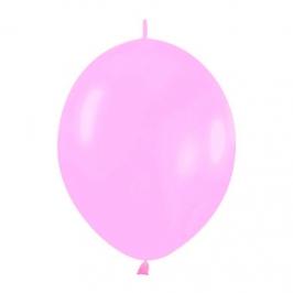 Pack de 50 Globos Link O Loon Rosa Pastel 12 cm