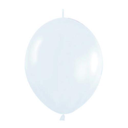 Pack de 50 Globos Link o loon Blancos 12 cm