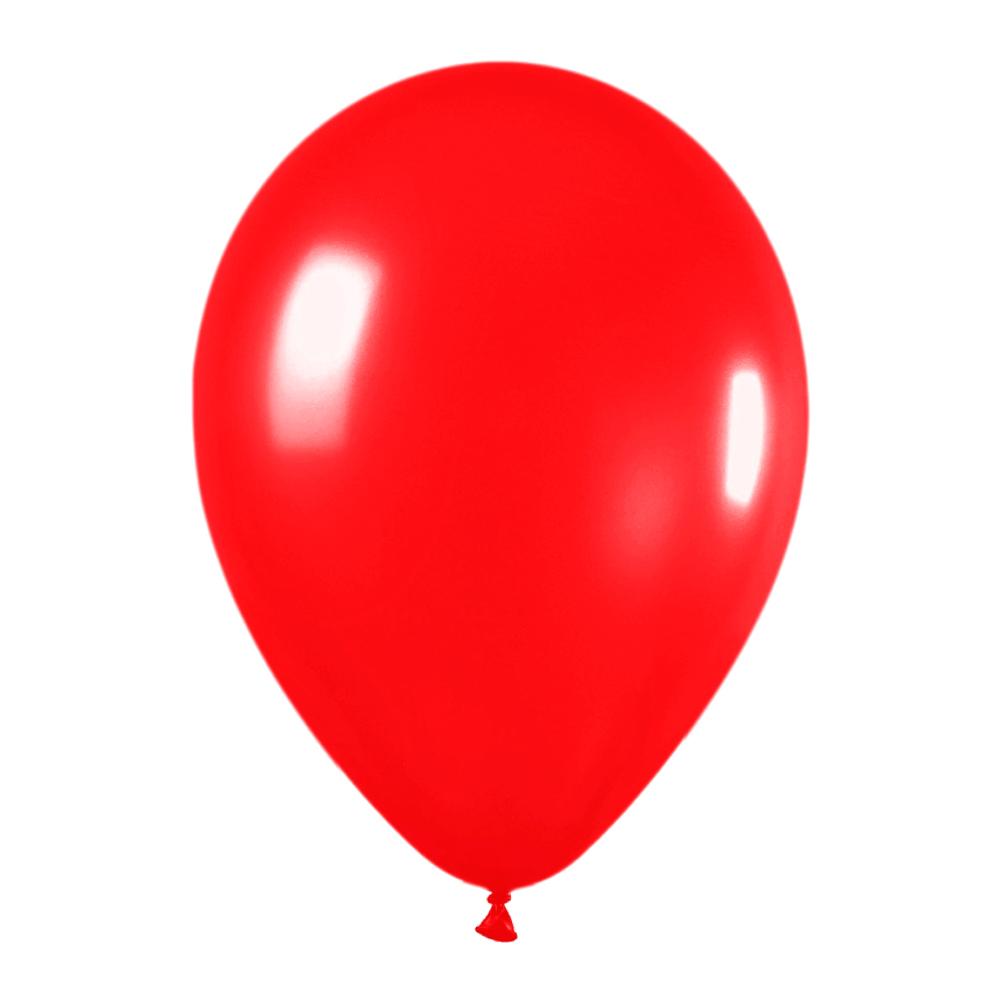 Pack de 50 globos rojo metalizado