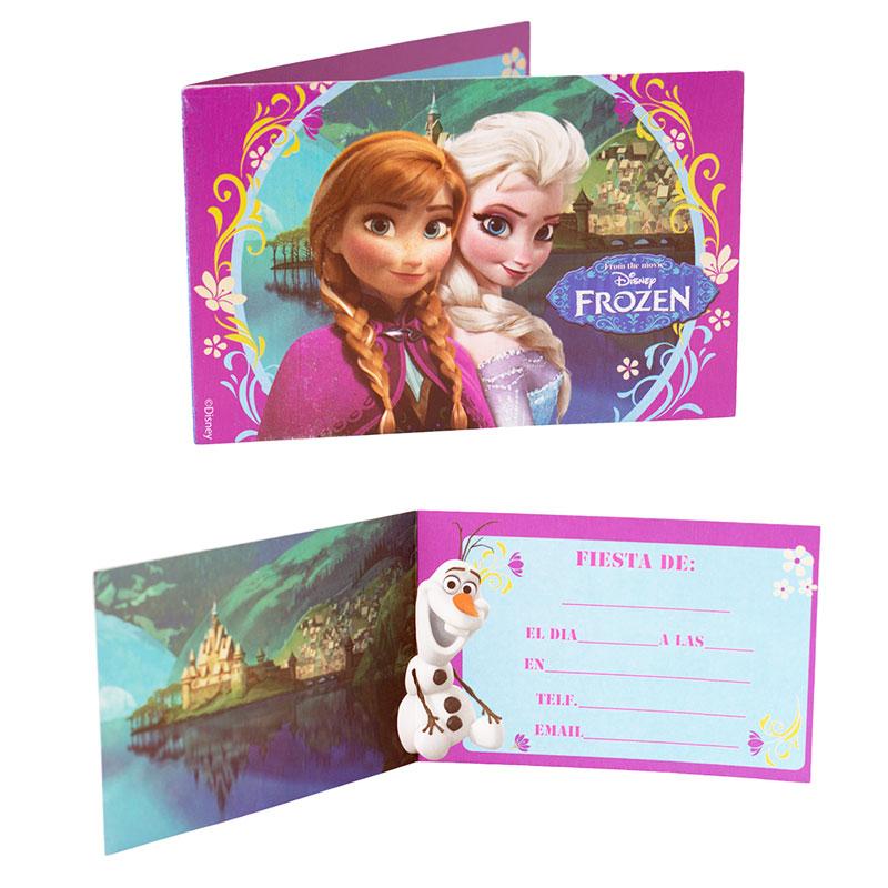 Pack de 6 invitaciones de cumpleaños Frozen - My Karamelli