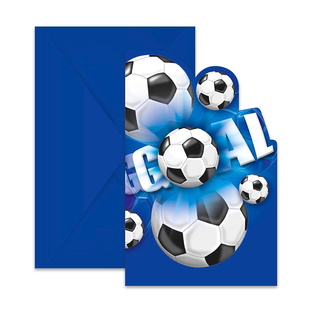 Pack de 6 Invitaciones Fútbol Party