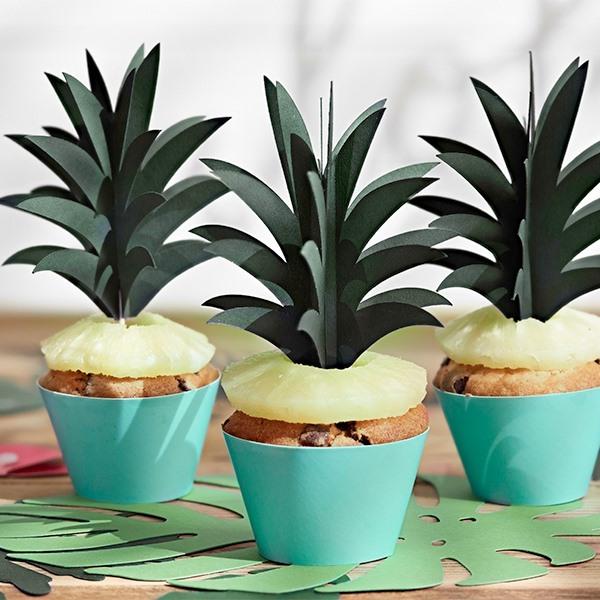 Pack de 6 Toppers para Cupcakes Piña