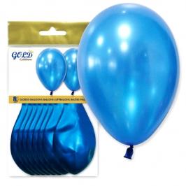 Pack de 8 Globos Azul Metalizado