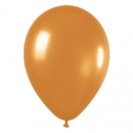 Pack de 8 globos metalizados oro