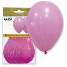 Pack de 8 globos Rosa Pastel