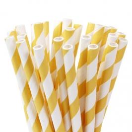Pajitas Amarillas y blancas para cake pops y bebidas