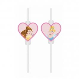 Pajitas de Papel Princesas Disney 4 ud