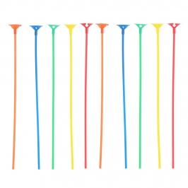 Pack 10 Palitos con Soporte para Globos Varios Colores