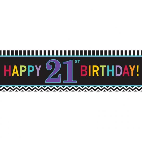 Pancarta 21 Cumpleaños