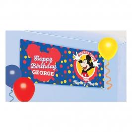 Pancarta para personalizar de Mickey Mouse de 1 metro
