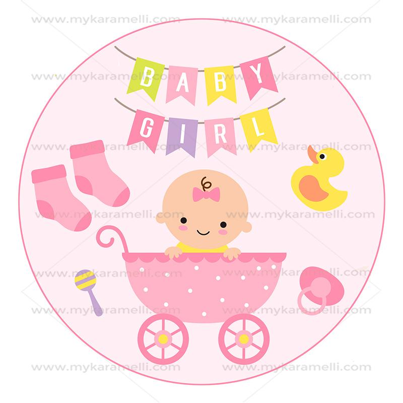Papel de Azúcar Baby Girl 20 cm