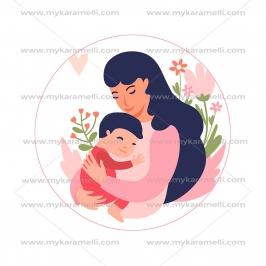 Papel de azúcar Día de la Madre Modelo A 15 cm