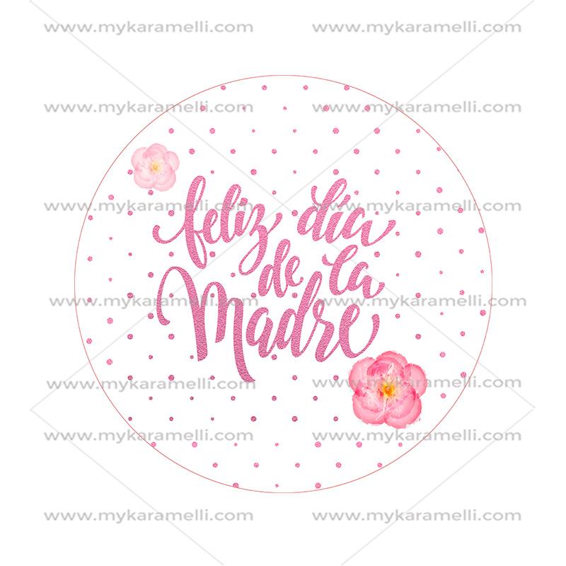 Papel de azúcar Día de la Madre Modelo D 15 cm