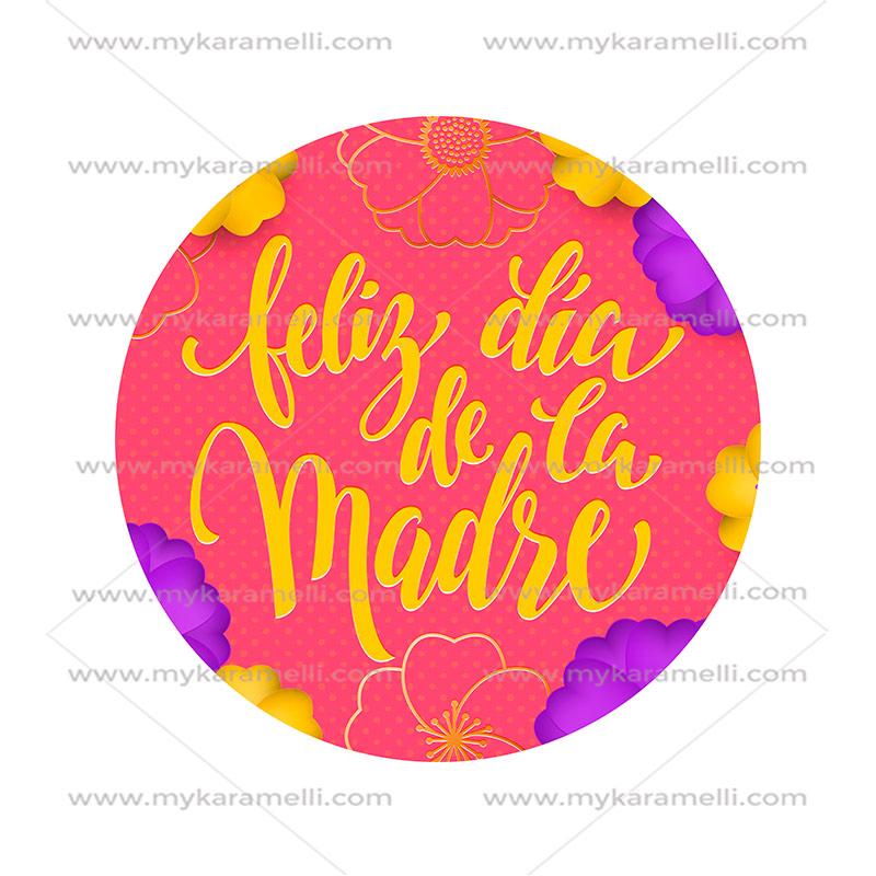 Papel de azúcar Día de la Madre Modelo E 15 cm