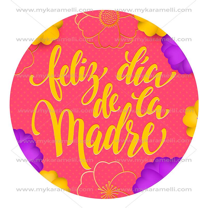 Papel de azúcar Día de la Madre Modelo E 20 cm