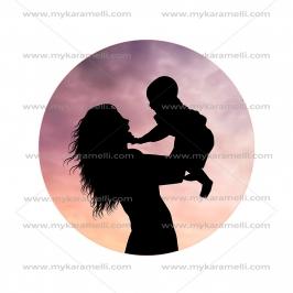 Papel de azúcar Día de la Madre Modelo F 15 cm
