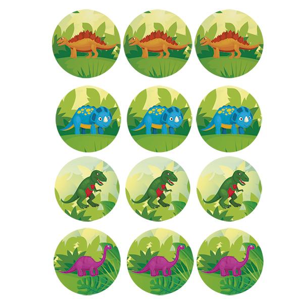 papel de azúcar dinosaurios