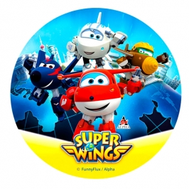 Papel de Azúcar Super Wings Modelo B
