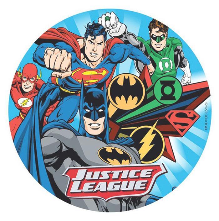 Papel de oblea Liga de la Justicia