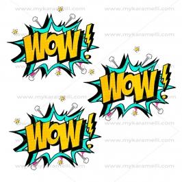 Papel de oblea Logo WOW